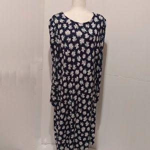 Old Navy Daisy Print Shift Dress  XXL